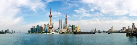 pudong district: modern city skyline ,shanghai pudong, China