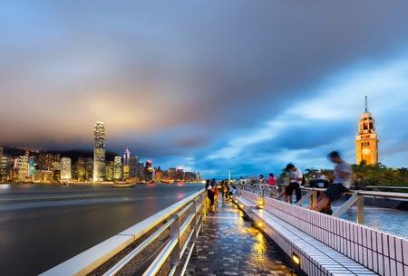 harbor: Night view of Hong Kong Victoria Harbor