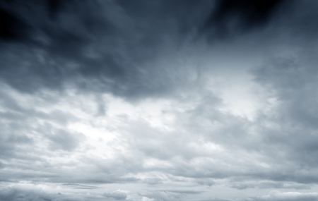 moody sky: Background of dark clouds before a thunder-storm
