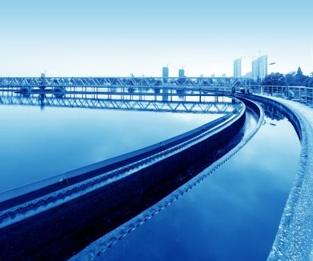 water treatment: Modern urban wastewater treatment plant.