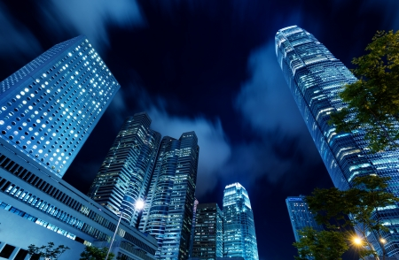 hong kong night: Hong Kong night, the citys modern high-rise.