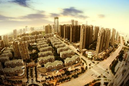 Birds eye view of the scene of major cities.