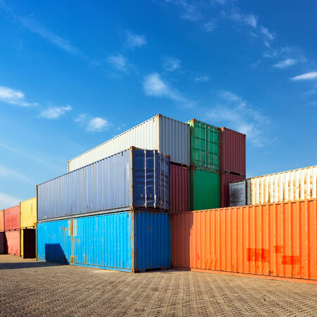 cargo container: Stack of Cargo Containers at the docks