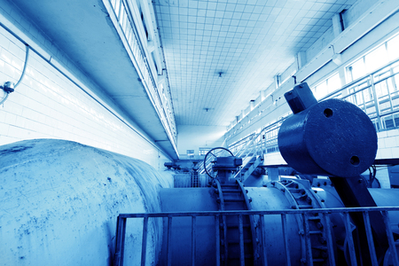 Water pipe in a sewage treatment plant photo