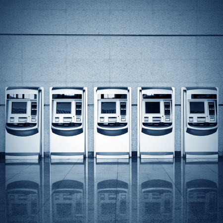 Train ticket vending machines photo