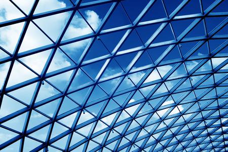 Transparente Glas-Decke-Bahn-Station