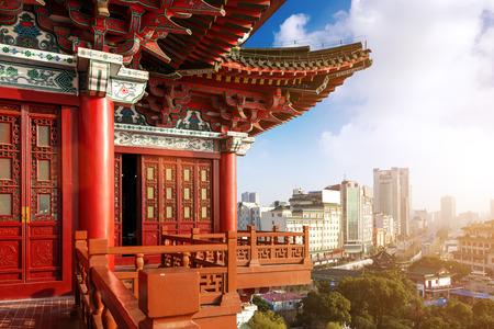nanchang Landschaft, Blick von der Tengwang Pavillon, China
