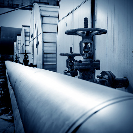 Place in a large industrial boilers outdoors photo
