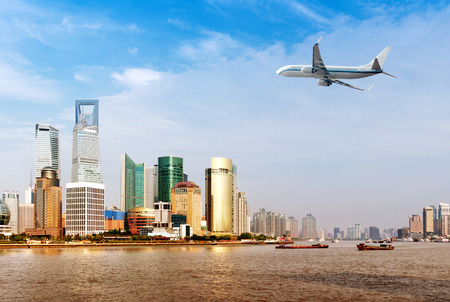 pudong district: China Shanghai Pudong New Area, the Lujiazui financial district. Stock Photo