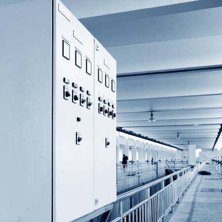 filtración: Ciudad de planta de tratamiento de agua en el paisaje interior