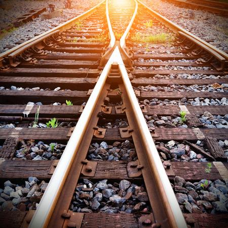 Close-up close-up shots of the tracks Фото со стока