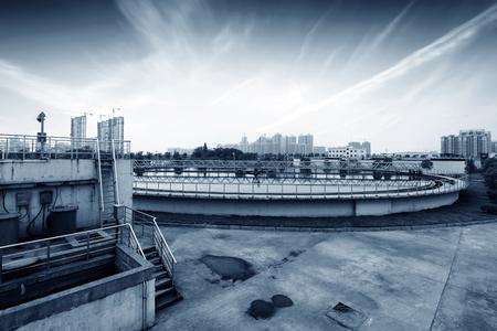 water treatment plant: Modern urban wastewater treatment plant.