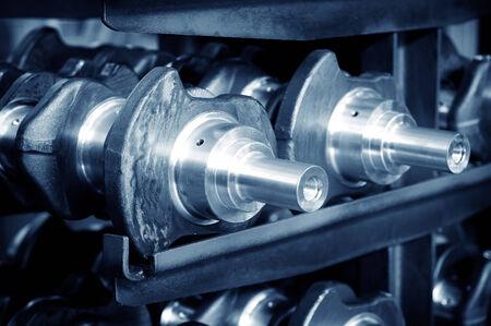 crankshaft: Car parts: crankshaft, close close-up. Stock Photo