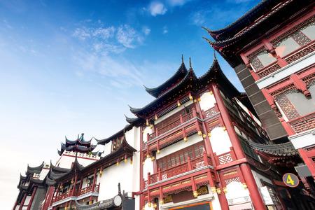上海の旧市街、豫園庭園 写真素材