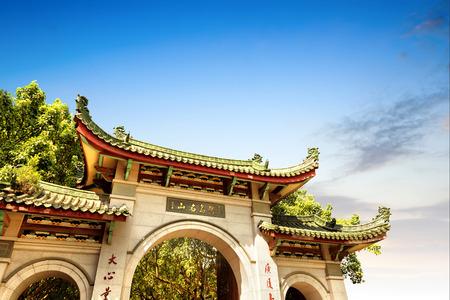 china landscape: China Xiamen, Fujian Province, the ancient temple of St. Paul.