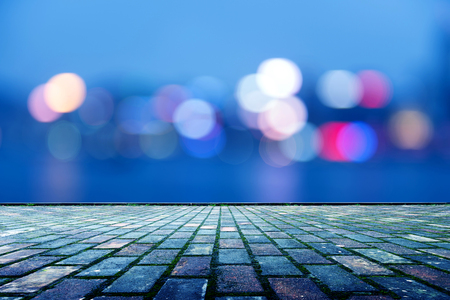 abstract city: Beautiful background on dark, out of Focus Lights during the Night.