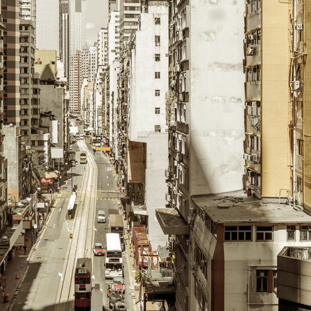 tenement: Hong Kongs crowded old city Stock Photo