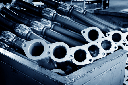 car manufacturing: A part of the pickup trucks exhaust pipe