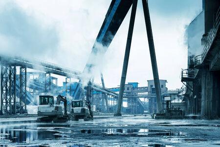 siderurgia: Siderurgia paisaje, Shanghai, China.
