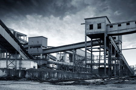 smudgy: Iron and steel industry landscape, Shanghai, China.