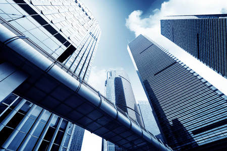 Metropool Shanghai moderne kantoorgebouw