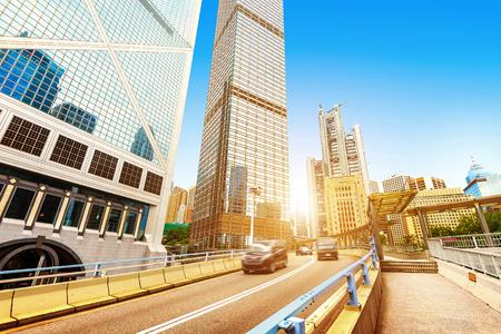 office building exterior: Modern building Landscape in Hong Kong