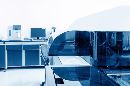 biochemical: Hospital laboratories, automatic biochemical analyzer Stock Photo
