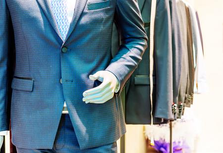lapels: Suite on the mannequin