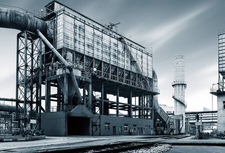 infect: Iron and steel industry landscape, Shanghai, China.