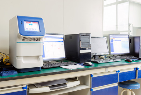 electrolyte: Hospital laboratories, computers and electrolyte analyzers.