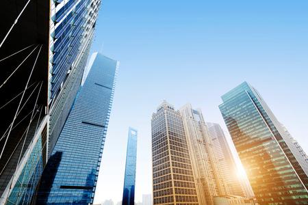 modern building: Metropolis of Shanghais modern office building Stock Photo