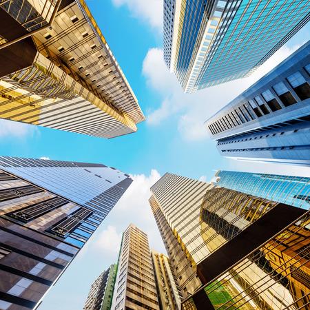 セントラル、香港の近代的な高層ビル 写真素材