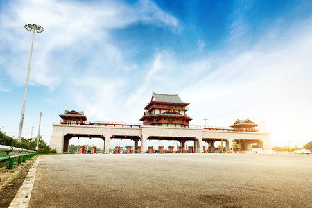 toll: Chinas highway toll and vehicle Stock Photo