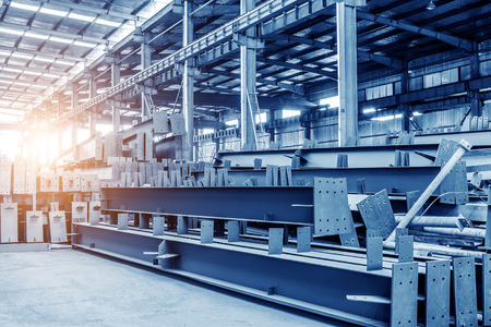 metal steel: Large steel processing plant Stock Photo