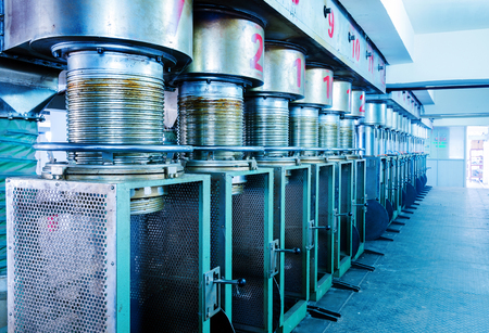machinery: Textile production line machinery and equipment Stock Photo
