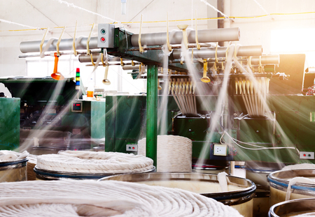 spinning factory: Spinning factory workshop, it is the production of machinery and equipment.