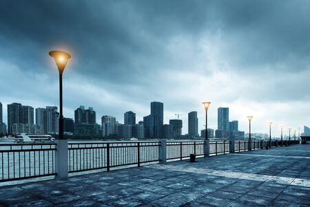huangpu: The Bund in Shanghai, Huangpu River landscape.