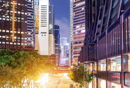 hong kong night: Hong Kong night, the modern city high-rise.