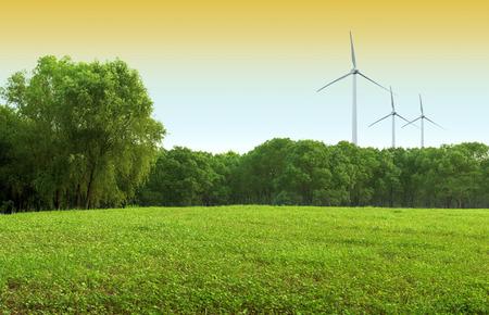viento: molinos de viento y Prado esc�nico