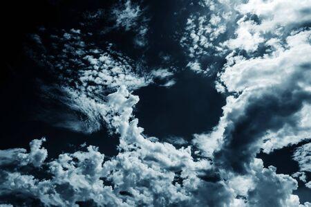 dark skies: Background of dark clouds before a thunder-storm