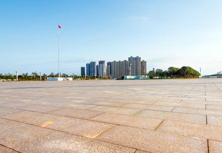 City Square in der Dämmerung Landschaft, Nanchang, China. Standard-Bild - 47620836