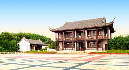 characteristics: Ancient buildings have ethnic characteristics, China Jiaxing.