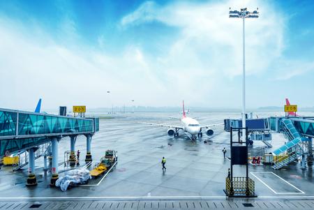 비행 대기 창 장면 외부 공항, 스톡 콘텐츠 - 49908272