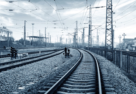 crossway: Railway transportation hub in Shanghai, China.