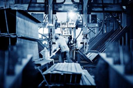 technical department: Workers in the steel processing plant
