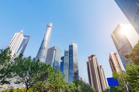 commercial: Shanghai urban landscape, the Huangpu River landmark