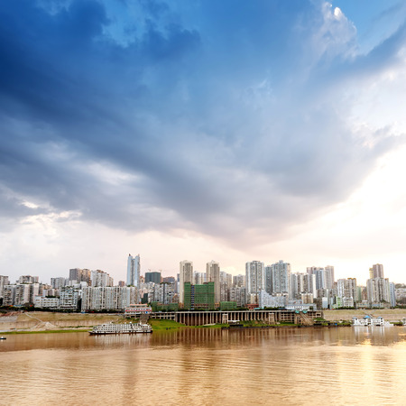 bank activities: Chinas largest rivers: the Yangtze River, Sichuan and mountain scenery.