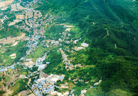 establishment: The establishment of industrial zones in the mountains of Sichuan, China