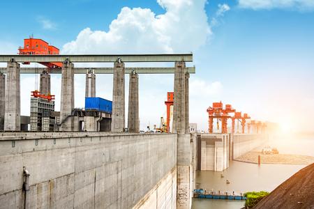 The huge Three Gorges Dam on Chinas Yangtze River