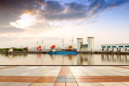 The famous Gezhouba large water conservancy in Chinas Yangtze River.